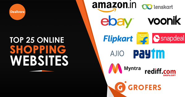 Top 25 best online shopping websites in india dealivore for Top online websites for shopping