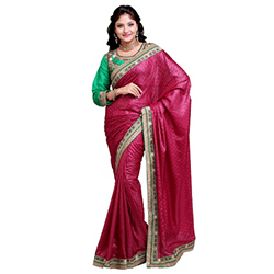 satin jacquard saree